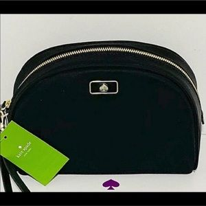NWT Kate Spade Black Make up Bag, Small travel
